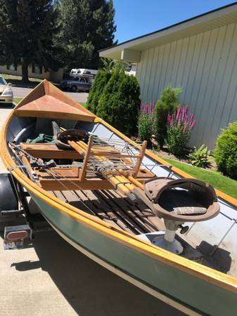 Photo Custom built Mckenzie river style 17 woodenDriftboat - $2,200 (Rexburg)