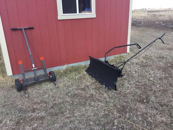 Photo Dixon Garden Tractor Implements. Lift  Plow Blade - $175 (Blackfoot)