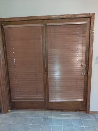 Photo Double Exterior glass French door with trim hardware - $50 (Idaho Falls)