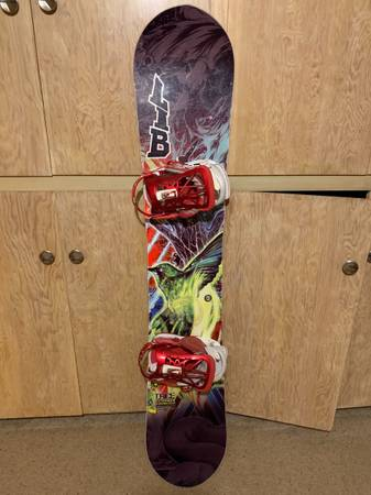 Photo Lib Tech T. Rice C2 Power Snowboard w Union Contact Pro Bindings - $200 (Pocatello, ID)