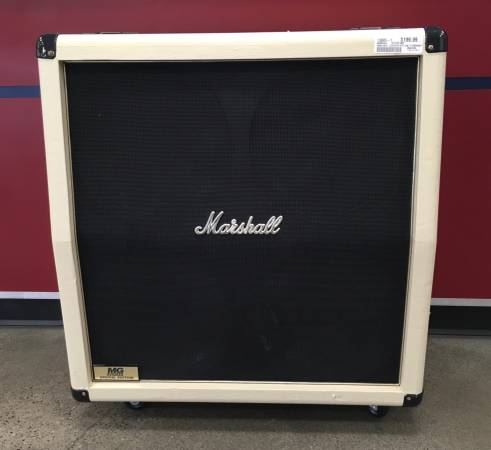 Photo Marshall MG412AC Limited Edition White Guitar Cabinet - $200 (Ammon)