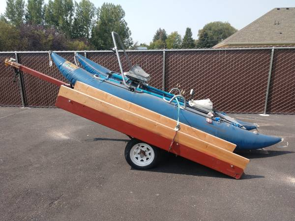 Photo Outcast Pontoon Boat With Hauler Trailer - $2,000 (Ammon)