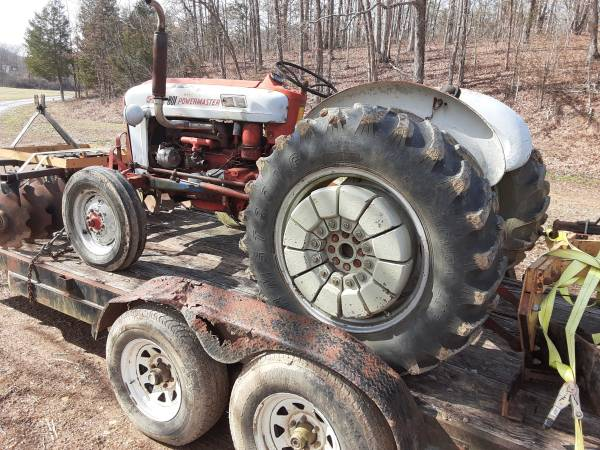 Photo 801 ford tractor with disk and 2 bottom plow - $3500