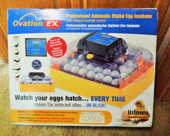 Photo Brinsea USAF37C Ovation 28 EX Fully Automatic Egg Incubator with Humid - $300 (Shelby Gap)