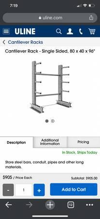 Photo Heavy duty racks - $1,800 (Pikeville)