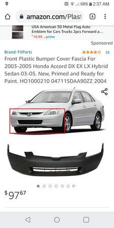 Photo 2003-2005 New Honda Accord SEDAN (4 Door) Bumper - $80 (Nashville)