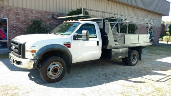 Photo 2008 Ford F450 Super Duty XL Flatbed Truck - $14,900 (Wilmington)