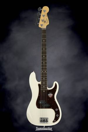 Photo 2016 Fender USA Precision 4string bass whsc White wTortoise PG - $1,000 (Washington)
