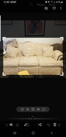 Photo Antique White Couch 39n Love Seat - $350 (Goldsboro)