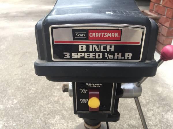Photo Craftsman 8quot bench model drill press - $65 (Nashville)