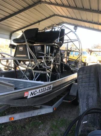 Photo Diamond back air boat with trailer - $26000 (Selma NC)