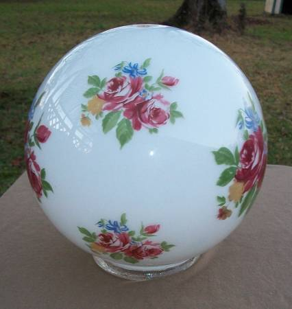 Photo Milk Glass Flower Globe For a L - $7 (Havelock)