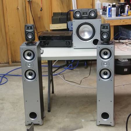 Photo Pioneer klipsch Polk home theater system  stereo - $200 (Washington)