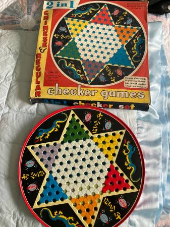 Photo Vintage 2 In 1 Checker Game and Chinese Checkers - $20 (Havelock)