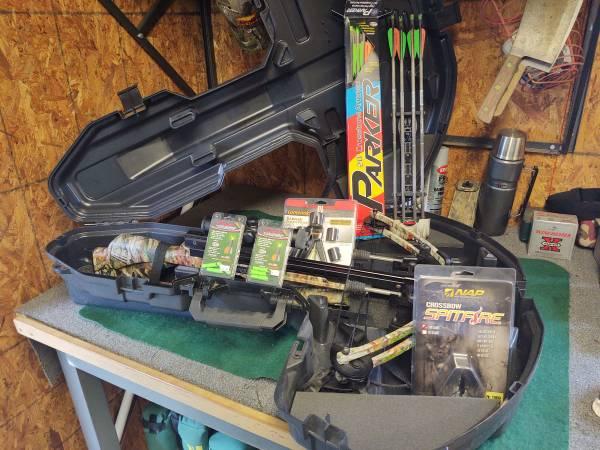 Photo parker crossbow F4 tornado  red hot scope - $500 (Trenton)