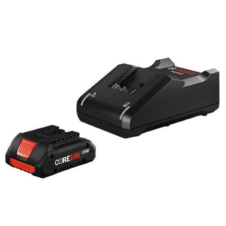 Photo Bosch 18v 4.0 Amp-Hour Core Lithium Ion battery, charger - $59 (SW Bend)