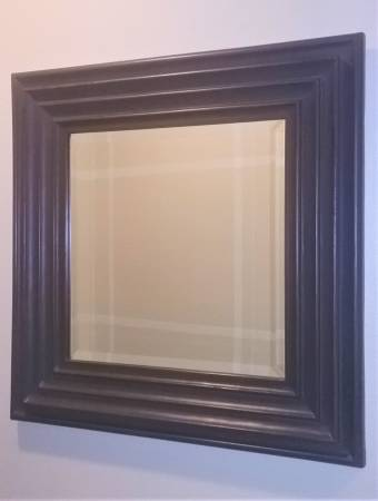 Photo Contemporary Square Beveled Glass Wall Mirror - $25 (Sunriver)