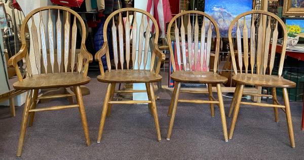 Photo Oak Dining Chairs, 4-piece set - $1 (Hermiston)