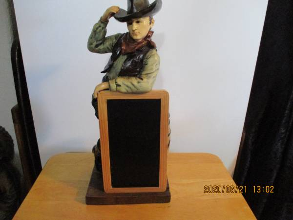 Photo Sonoma Happy Trails Cowboy Chalk Board Holder - $45 (Terrebonne)