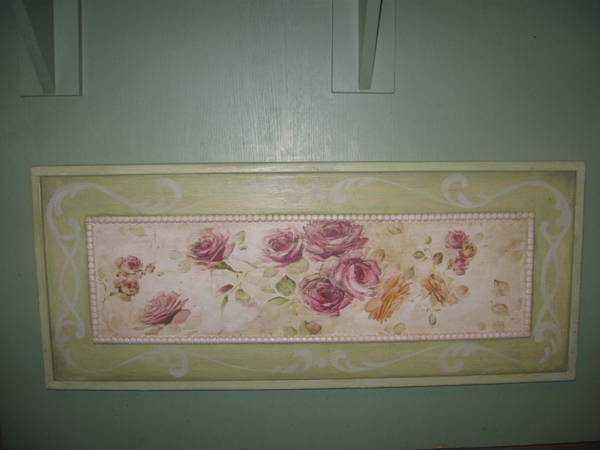 Photo shabby chic painted roses - $25 (sunriver bend)