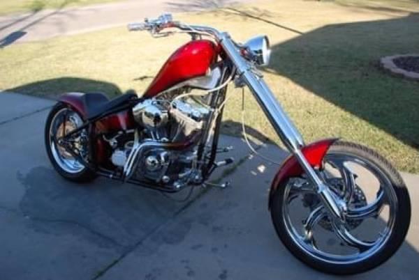 Photo 2004 Harley Davidson Dyna Chopper. Original owner - $10,500 (Tyler)
