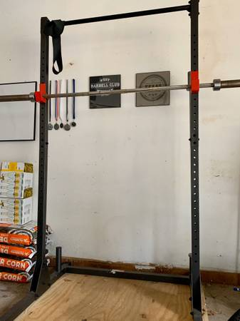 Photo CAP Barbell Squat Rack with Pullup Bar - $120 (Tyler)