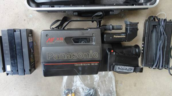 Photo Camcorder Camera Panasonic AF X8 Ccd Omnimovie VHS HG with Case - $80 (Tyelr)