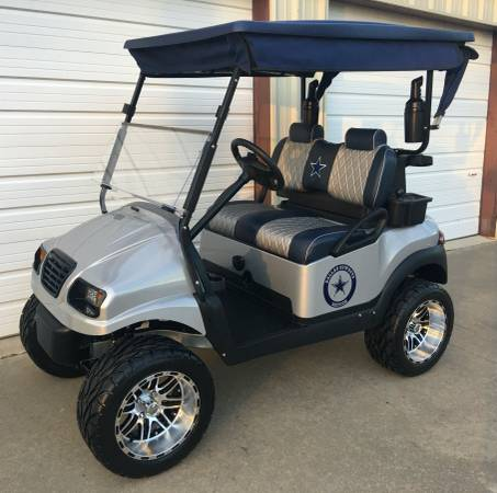 Photo Dallas Cowboys Custom Cart - $5595 (golf cart at Lake Fork in East Texas)