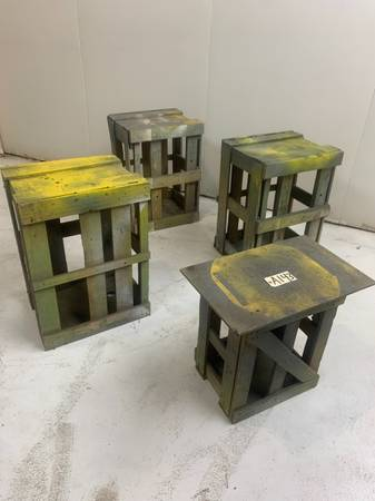 Photo Decorative stand shabby chic formally shipping crates then paint stand - $80 (Tyler)
