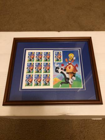Photo Framed USPS Looney Tunes Sts - $7 (Longview, Texas)