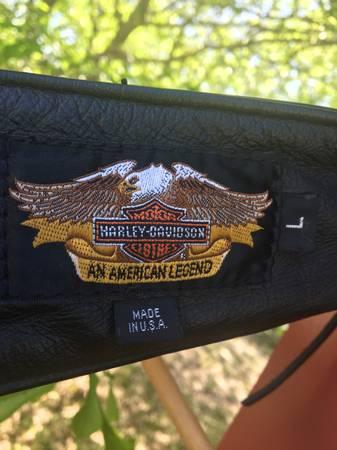 Photo Harley Davidson leather chaps - $60 (Canton texas)