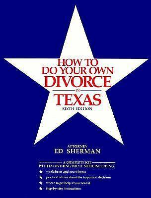 Photo How to Do Your Own Divorce in Texas book by Ed Sherman - $5 (benbrook)
