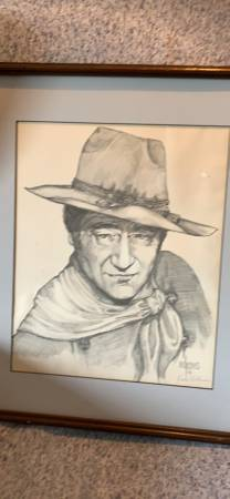 Photo John Wayne portrait - $65 (Porter)