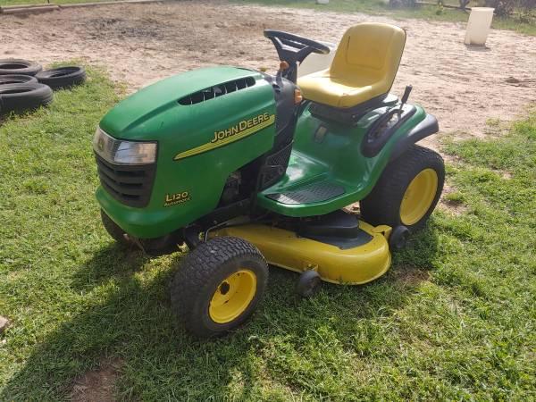 Photo John deere L120 48quotdeck riding lawn mower tractor - $950 (Henderson texas)
