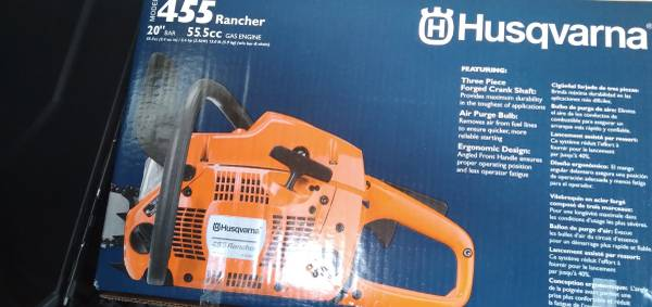 Photo New Husqvarna 455 chainsaw - $350