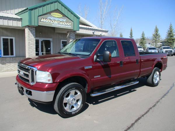 Photo 2007 ford f350 f-350 diesel crew cab long box 4x4 lariat leather 4wd - $18,995 (HWY 8 Forest Lake MN)
