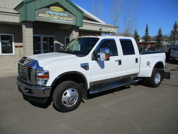 Photo 2008 ford f350 f-350 diesel drw crew cab short box leather clean 61k - $29,995 (HWY 8 Forest Lake MN)