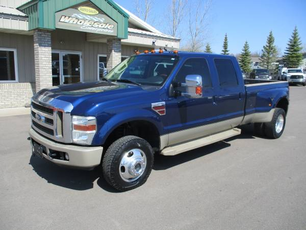Photo 2008 ford f350 f-350 diesel king ranch drw crew cab 4x4 long box 4wd - $23,995 (HWY 8 Forest Lake MN)