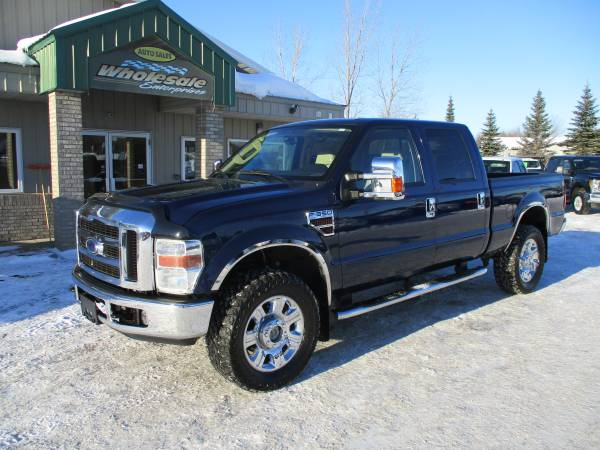 Photo 2008 ford f350 f-350 diesel lariat leather crew cab short box 4x4 4wd - $22995 (HWY 8 Forest Lake MN)