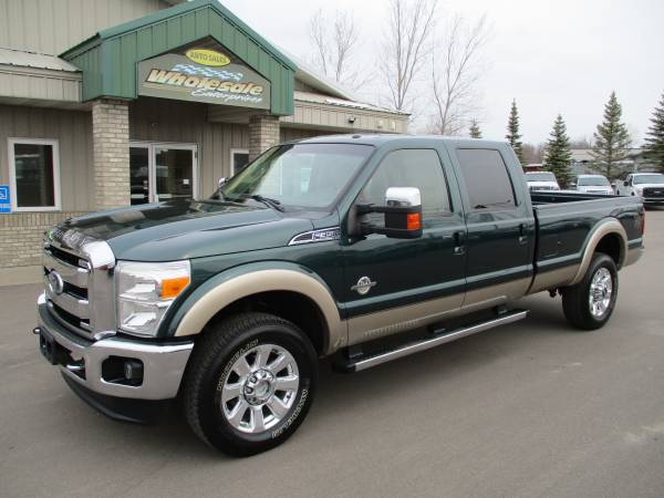 Photo 2011 ford f350 f-350 6.7 diesel crew cab long box 4x4 lariat 4wd - $32,995 (HWY 8 Forest Lake MN)