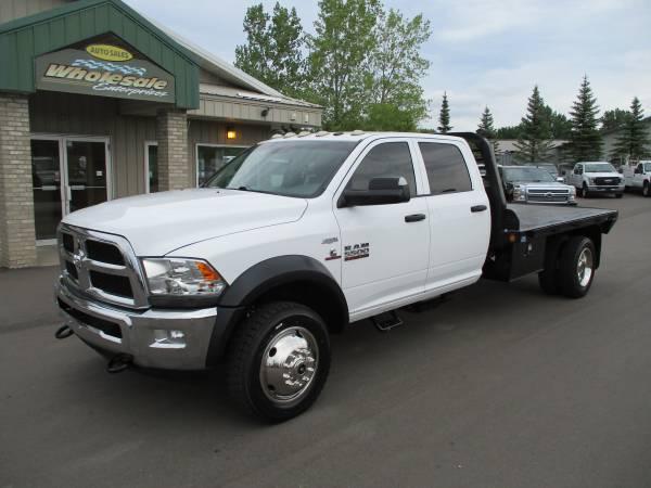 Photo 2014 dodge ram 5500 cummins diesel crew cab flatbed 4x4 drw 4wd - $29,999 (HWY 8 Forest Lake MN)