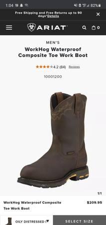 Photo Brand New Ariat Boots - $190 (Eau Claire)