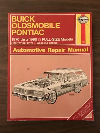 Photo Buick, Oldsmobile, Pontiac 1970 - 1990 Full Size Haynes Repair Manual - $10 (Minneapolis)
