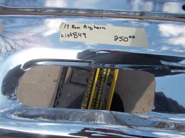 Photo Dodge Ram Big Horn OEM chrome front bumper 2014-2018 - $225 (Fall Creek)