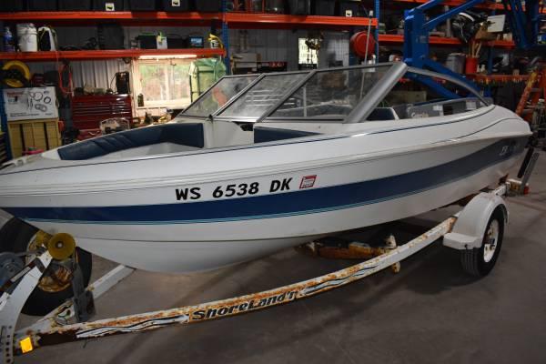 Photo LARSON All America 150 boat Shorelander roller trailer PROJECT - $790 (neillsville)