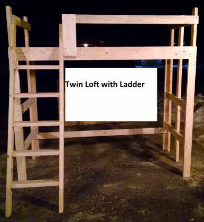 Photo Loft Bed Bunk Beds Table Steps CUSTOM Hand Made Real Solid Wood Lumber - $280 (New Richmond)