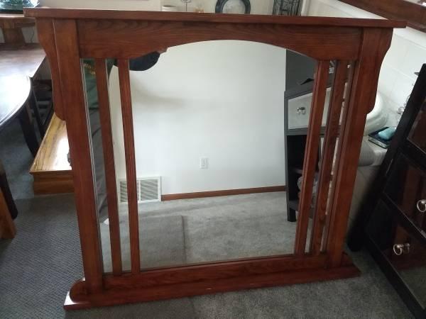 Photo Oak Dresser mirror - $60 (Eau Claire)