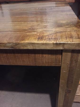 Photo Pier 1 Imports Rustic, Chunky Wood Pub Dining Table 3ft x 3ft - $125 (Eau Claire)