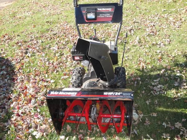 Photo (Snow Blowers) 24 10 Hp Electric Start Yard Machine Snowblower MTD M - $350 (Chippewa Falls)