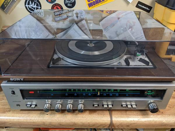 Photo Vintage Sony Dual Turntable Stereo Receiver - Working - $100 (Eau Claire)